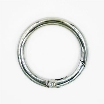Chrome Handbag Ring Clasp